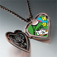Items from KS - sports equipment photo italian heart locket pendant necklace Image.