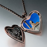Items from KS - sphinx classic heart locket pendantheart rose gifts for women necklace Image.