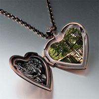 Items from KS - door shade heart locket pendantheart rose gifts for women necklace Image.