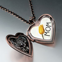 Necklace & Pendants - november tulip heart locket pendant necklace heart rose Image.