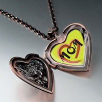 Necklace & Pendants - colorful heart heart locket pendant necklace heart rose Image.