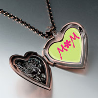 Necklace & Pendants - flower heart locket pendant necklace heart rose Image.