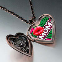 Necklace & Pendants - mom red lip heart locket pendant necklaceheart rose for women Image.