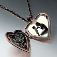 Necklace & Pendants - mother child heart locket pendant necklaceheart rose for women Image.
