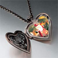 Necklace & Pendants - santa tree ornament heart locket pendant necklace Image.
