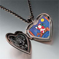 Necklace & Pendants - santa on christmas rudolph reindeer heart locket pendant necklace Image.