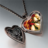 Necklace & Pendants - christmas heart locket pendants christmas bells photo heart locket pendant necklace Image.