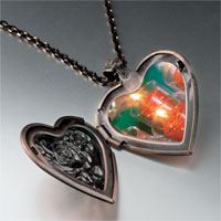 Necklace & Pendants - red holiday candles heart locket pendant necklace Image.