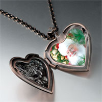 Necklace & Pendants - santa claus here heart locket pendant necklace Image.