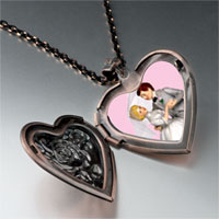 Necklace & Pendants - wedding cake couple heart locket pendant necklace Image.