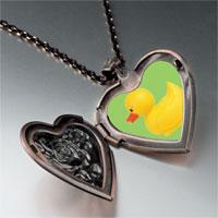 Necklace & Pendants - rubber duckie heart locket pendant necklace Image.