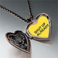Necklace & Pendants - shut up already yellow heart locket pendant necklace Image.