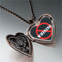 Necklace & Pendants - no whining sign heart locket pendant necklace Image.