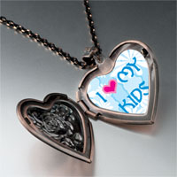 Necklace & Pendants - i heart kids photo heart locket pendant necklace Image.