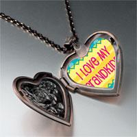 Necklace & Pendants - i love grandkids photo heart locket pendant necklace Image.
