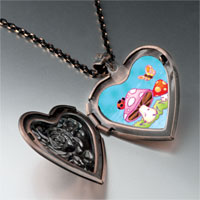 Necklace & Pendants - mushrooms butterfly heart locket pendant necklace Image.