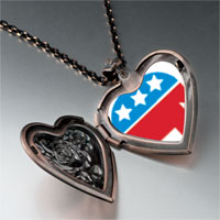 Necklace & Pendants - blue red republican elephant heart locket pendant necklace Image.