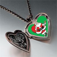 Necklace & Pendants - santa claus gift sack heart locket pendant necklace Image.