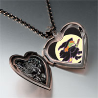Necklace & Pendants - flying witch heart locket pendant necklace Image.