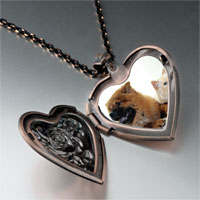 Necklace & Pendants - relaxing pet pals heart locket pendant necklace Image.