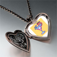 Necklace & Pendants - drink heart locket pendant necklace Image.