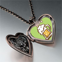 Necklace & Pendants - frothy beer heart locket pendant necklace Image.