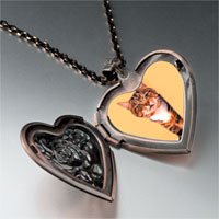 Necklace & Pendants - peek a boo cat heart locket pendant necklace Image.