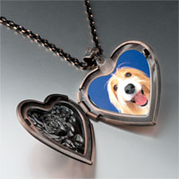 Necklace & Pendants - bearded collie face heart locket pendant necklace Image.