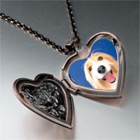 Necklace & Pendants - bearded collie face heart locket pendant necklace Image.