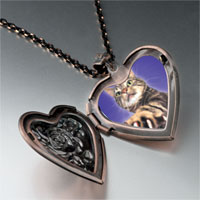 Necklace & Pendants - action cat heart locket pendant necklace Image.