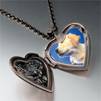 Necklace & Pendants - golden retriever puppy heart locket pendant necklace Image.