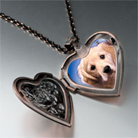 Necklace & Pendants - white puppy photo heart locket pendant necklace Image.