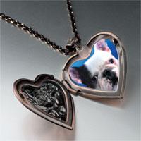 Necklace & Pendants - bull dog heart locket pendant necklace Image.