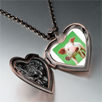 Necklace & Pendants - smoking pig heart locket pendant necklace Image.