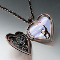 Necklace & Pendants - cat balloons heart locket pendant necklace Image.