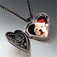 Necklace & Pendants - puppy santa heart locket pendant necklace Image.