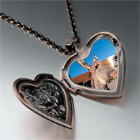 Necklace & Pendants - brown donkey heart locket pendant necklace Image.