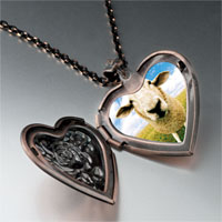 Necklace & Pendants - sheep face heart locket pendant necklace Image.