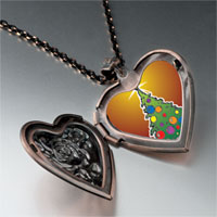 Necklace & Pendants - christmas jewelry bright christmas tree gifts heart locket pendant necklace Image.