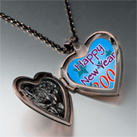 Items from KS - happy new year 2006  blue heart locket pendant necklace Image.
