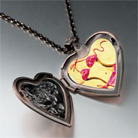 Necklace & Pendants - bikini on beach sand heart locket pendant necklace Image.