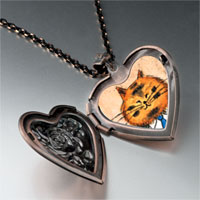 Necklace & Pendants - business cat heart locket pendant necklace Image.