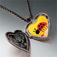 Items from KS - ladybug photo heart locket pendant necklace Image.