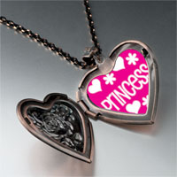 Necklace & Pendants - princess photo heart locket pendant necklace Image.