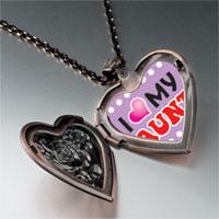Necklace & Pendants - i heart aunt photo heart locket pendant necklace Image.