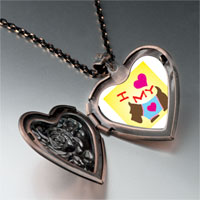 Necklace & Pendants - i heart dog photo heart locket pendant necklace Image.