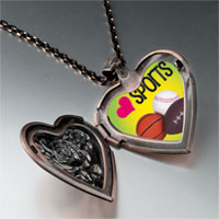 Items from KS - heart sports heart locket pendant necklace Image.