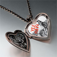 Necklace & Pendants - yee haw cowboy heart locket pendant necklace Image.