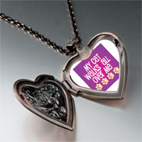 Necklace & Pendants - cat walks heart locket pendant necklace Image.