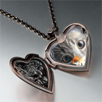 Necklace & Pendants - fishbowl cat heart locket pendant necklace Image.